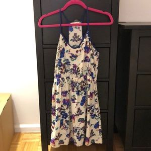 Lush silky floral sundress with cinched waist